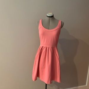 Cynthia Rowley pink fit and flare, size S, POCKETS